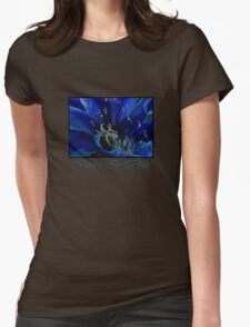 Nature in Blues Womens Fitted T-Shirt