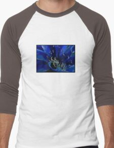 Blue Macro Men's Baseball ¾ T-Shirt