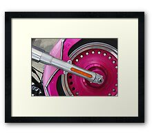 too much pink? Framed Print