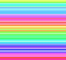 bright happy rainbow stripes by tabbygun