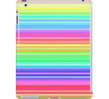 bright happy rainbow stripes iPad Case/Skin