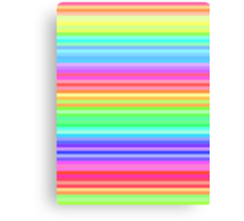 bright happy rainbow stripes Canvas Print