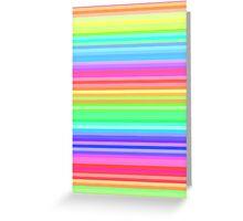 bright happy rainbow stripes Greeting Card