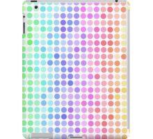 rainbow color fade dots iPad Case/Skin