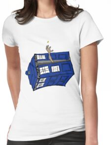 What if Gollum had TARDIS... Womens Fitted T-Shirt