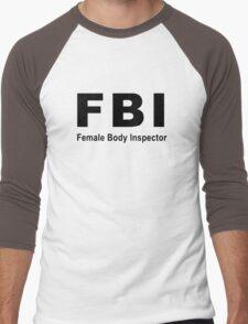 Female Body Inspector Men's Baseball ¾ T-Shirt
