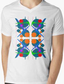 Abstract Splash of colours Mens V-Neck T-Shirt