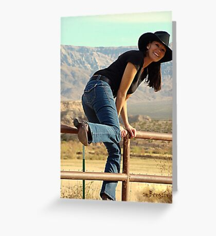 All American Cowgirl Greeting Card