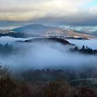 Mist in the valley Cumbria by JDHPhotos