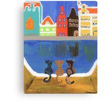 Cats Enjoying the View Canvas Print