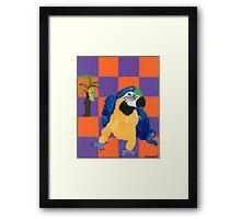 Pop Parrot Framed Print