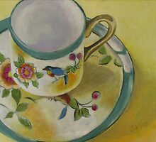 Little Cup with Bird Motif by Jennifer Wyse