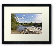 The Weir @ Boroughbridge Framed Print