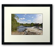 The Weir @ Boroughbridge Framed Print