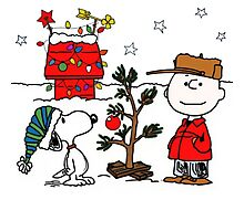 Snoopy and Charlie Brown Photographic Print