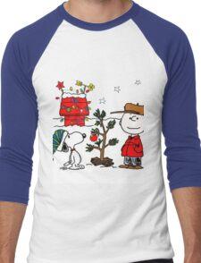Snoopy and Charlie Brown Men's Baseball ¾ T-Shirt
