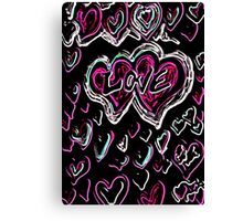 Love neon Canvas Print