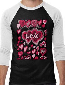 Love abstract Men's Baseball ¾ T-Shirt