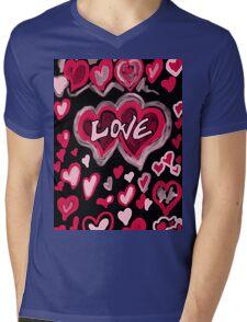 Love abstract Mens V-Neck T-Shirt