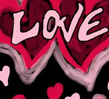 Love abstract Sticker
