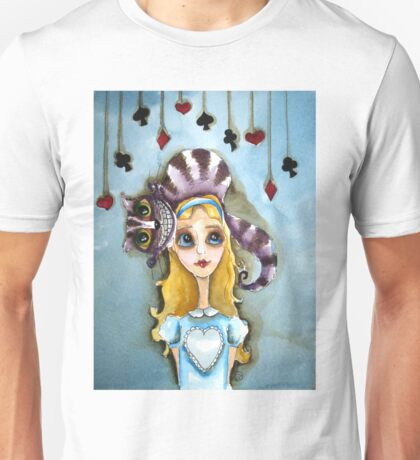 Alice in Wonderland - cat head Unisex T-Shirt