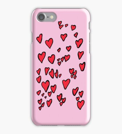 Flying hearts iPhone Case/Skin