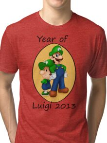 Year of Luigi Tri-blend T-Shirt