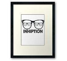 Inception Hipster Framed Print