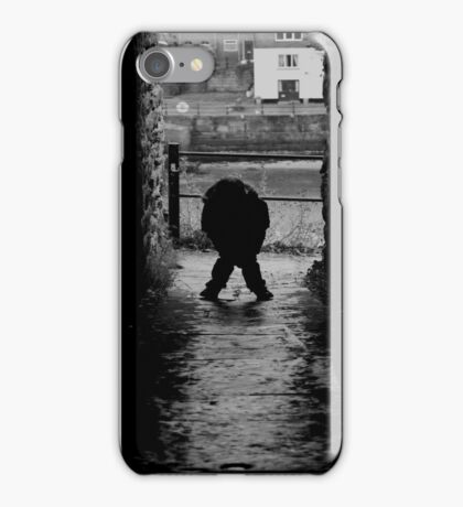 Don't look behind you iPhone Case/Skin