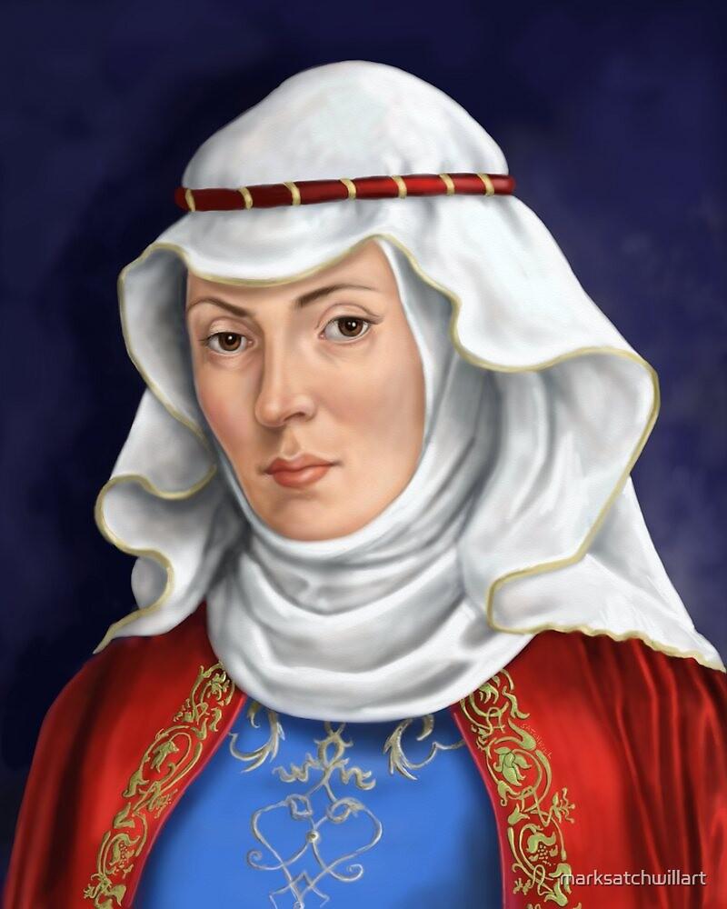 Eleanor Of Aquitaine by marksatchwillart