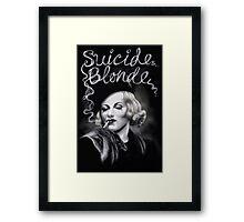 Suicide Blonde Framed Print