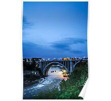 Monroe St Bridge at Sunset Poster