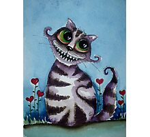 The Cheshire Cat - big smile Photographic Print