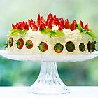 fresh strawberry cake...  by Gregoria  Gregoriou Crowe