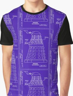 Bracewell's Ironside (Dalek) Blueprints Graphic T-Shirt