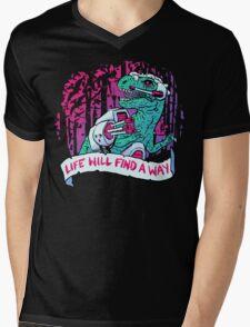 Life Finds A Way Mens V-Neck T-Shirt