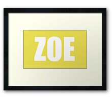 Zoe Hanna Framed Print