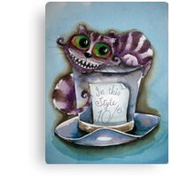Cheshire Cat on a top hat Canvas Print