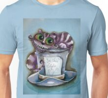 Cheshire Cat on a top hat Unisex T-Shirt