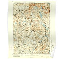 USGS TOPO Map New Hampshire NH Gilmanton 330043 1927 62500 Poster