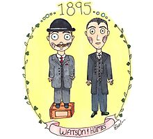 Holmes and Watson 1895 Photographic Print