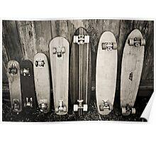 Vintage Skateboards Poster