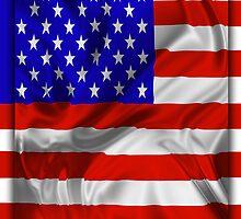 Stars and Stripes Usa Silk Flag by BluedarkArt