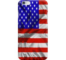 Stars and Stripes Usa Silk Flag iPhone Case/Skin