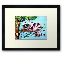 The Cheshire Cat - so much love Framed Print