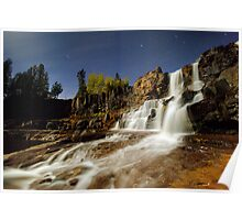 Gooseberry Falls on a Moonlit Night Poster
