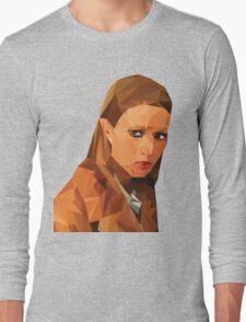 Margot Tenenbaum Low Poly Portrait from the Royal Tenenbaums Long Sleeve T-Shirt