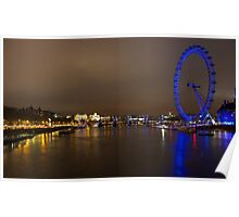 Central London, River Thames and London Eye Poster