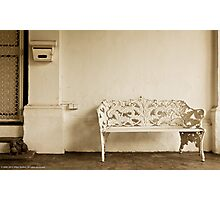 Bench at the Parsonage Photographic Print