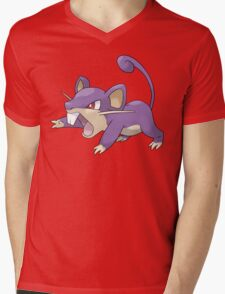 Classic Rattata Design Mens V-Neck T-Shirt